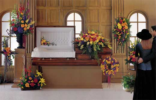 Service flowers for DE Young Memorial Chapel Funeral Home ,Stockton ,