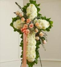 White Cross with Peach Rose Break by America
