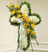 White Cross with Yellow Rose Break by America