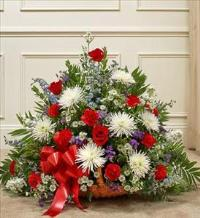 Red, White, and Blue Mixed Fireside Basket by America