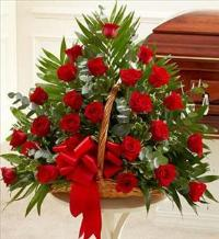Red Rose Fireside Basket by America
