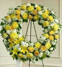 Yellow and White Standing Wreath by America