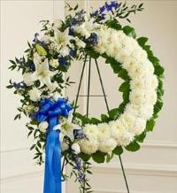 Blue and White Standing Wreath by America