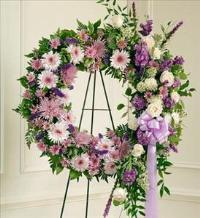 Lavender and White Standing Wreath by America