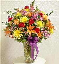 Bright Sympathy Vase Arrangement by America