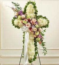 White Cross with Pastel Flower Break by America