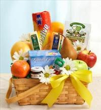 Fruit & Gourmet Basket for Sympathy by America