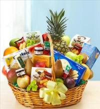 Deluxe Fruit and Gourmet Basket for Sympathy by America