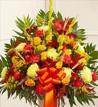 Sympathy Standing Basket in Fall Colors by America