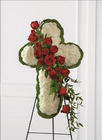 Floral Cross Easel by America