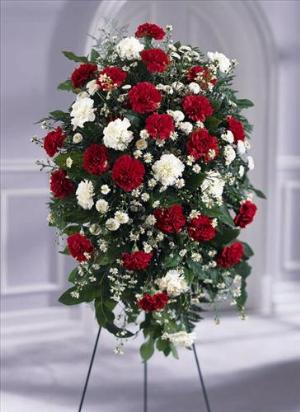 Crimson & White™ Standing Spray by America's Funeral Florist