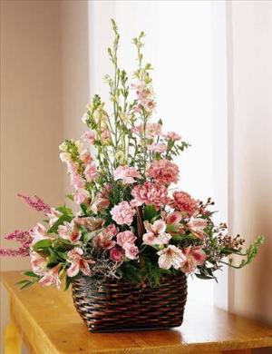 Exquisite Memorial Basket by America's Funeral Florist