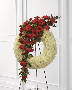Graceful Tribute Wreath by America's Funeral Florist