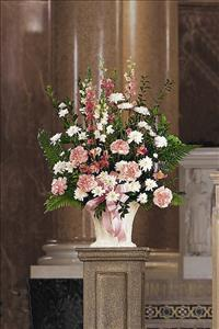 White & Pink Arrangement by America