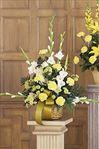 White, Yellow & Green Basket by America
