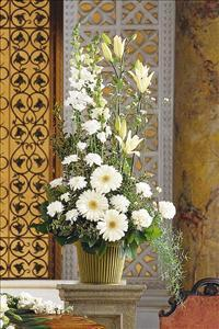 Tall White Arrangement by America