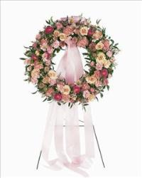 Mixed Pink Wreath by America
