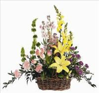 Spring Flowers in Basket by America