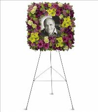 Mosaic of Memories Square Easel Wreath by America