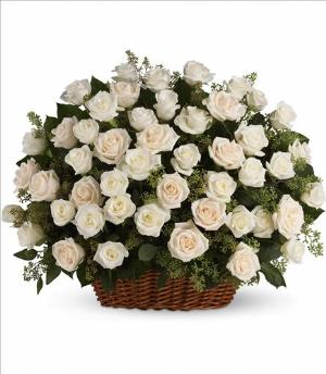 Bountiful Rose Basket by America's Funeral Florist