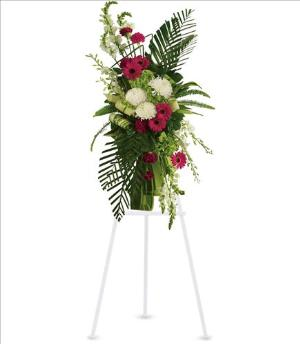 Gerberas and Palms Spray by America's Funeral Florist