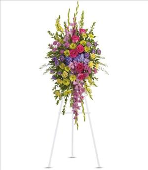 Bright and Beautiful Spray by America's Funeral Florist