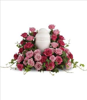 Bed of Pink Roses by America's Funeral Florist