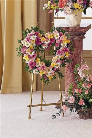 Open Heart of Mixed Flowers by America's Funeral Florist