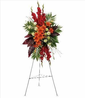 A New Sunrise Spray by America's Funeral Florist