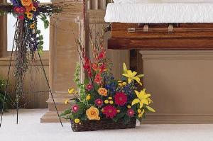 Basket with Summer Flowers by America's Funeral Florist