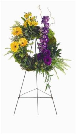 Mixed Flower Wreath by America's Funeral Florist