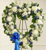 Blue and White Open Heart by America