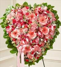 Pink Mixed Flower Heart by America