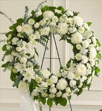 All White Standing Wreath by America