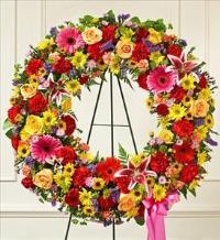 Multicolor Bright Standing Wreath by America