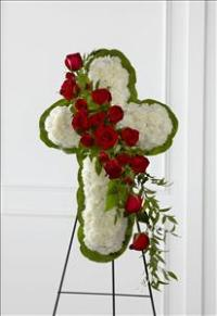 The FTD® Floral Cross Easel by America