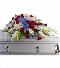 Distinguished Service Casket Spray by America