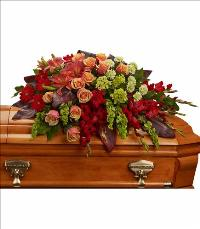 A Fond Farewell Casket Spray by America