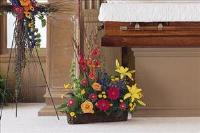 Basket with Summer Flowers by America