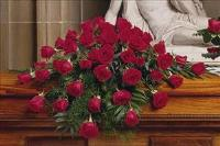 48 Red Rose Casket Spray by America